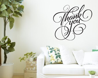Thank You - Vinyl wall art quote