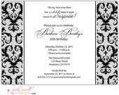 10-5x7 Birthday Invitations//you can change the colors/envelopes included