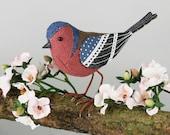 FABRIC BIRD - Chaffinch Sculpture - Made to Order