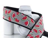 Watermelon dSLR Camera Strap, SLR, Plaid, Red, 98