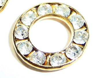 Vintage Swarovski Crystals 12 mm Round Connector on Etsy by APURPLEPALM