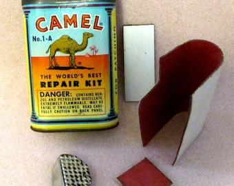 Vintage Camel Cigarette Promo Rubber Patch Repair Kit No. 1-A