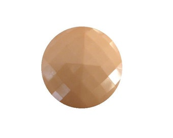 Pale Salmon Pink Square Facet button (no.00416)*Available in Quantity*