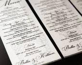 Anatomy Halloween Wedding Menu Cards Creepy Gothic Horror Offbeat Reception Decor Set 10