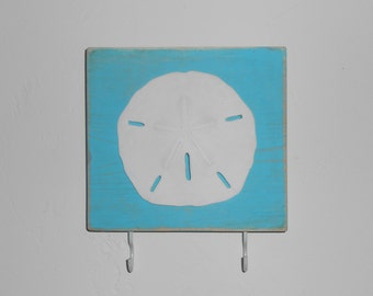 sand dollar key rack hook custom color 2 to 6 hooks available