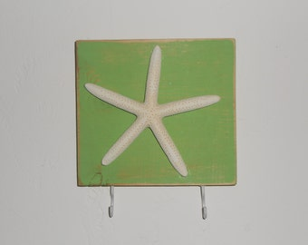 starfish key rack hook custom color 2 to 6 hooks available