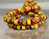 20% OFF 6/0 Matubo Three-Cut Mix Picasso 1Strand/54B Glass Seed Beads Red Avocado Yellow