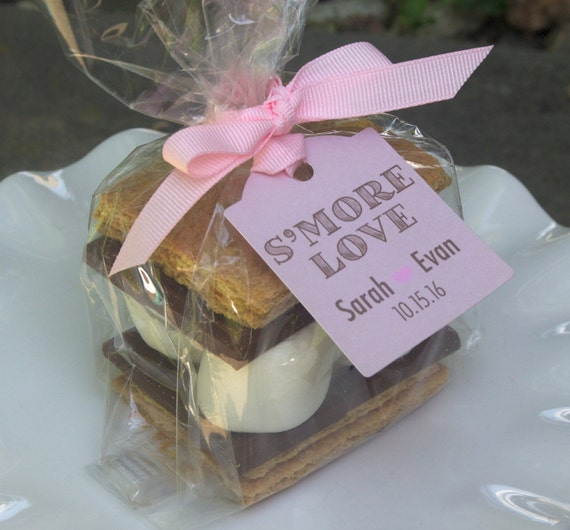 Favor Bags - Personalized Tags - Wedding Favors - Smores Favors ...