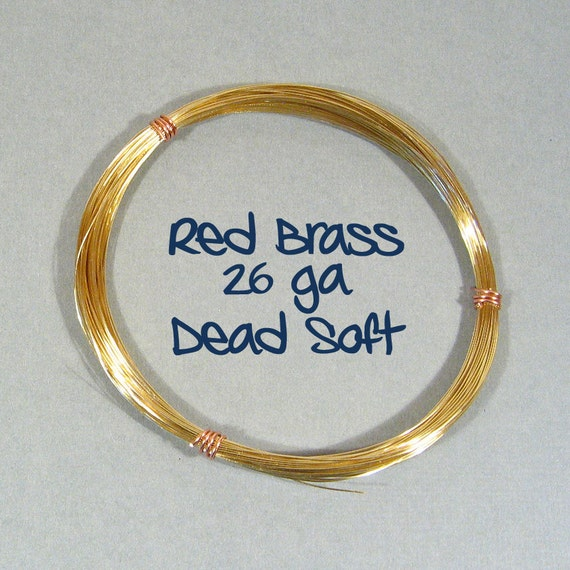 26ga Red Brass Wire - Choose Your length