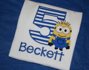 Minion Birthday Shirt, Personalized Minion, Minion Boys Shirt, Minion Boy Birthday, Custom Minion Shirt, Minion Shirt, Minion Party, Minion