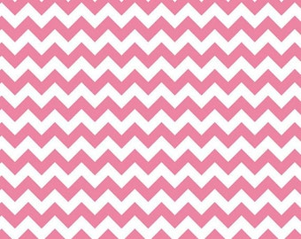 1/2 yard - Small Chevron in Hot pink,  Riley Blake fabric.