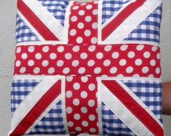 Red White and Blue Union Jack Cushion Throw Pillows