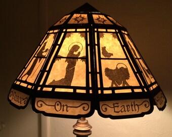 nativity tiffany lampshade diy digital cutting craft
