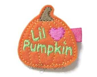 Little Pumpkin Hair Clip,  Pumpkin Hair Clip, Girl's Pumpkin Hair Clip, Fall Hair Clip, Orange Pumpkin Hair Clip, Halloween Hair Clip