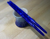 Cobalt blue acrylic Hair sticks you pick length