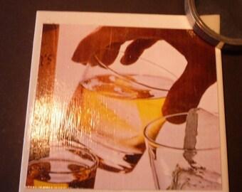 Mad Men Coasters -- Set of 2 -- Upcycled Coasters -- 1960s ephemera -- Cool gift --retro barware