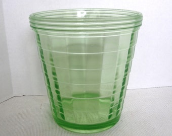 Anchor Hocking Block Optic Green Ice Bucket