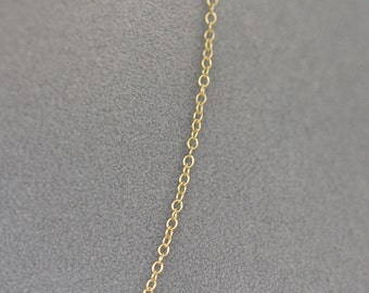 "20"" Gold Chain - Simple Gold Chain - 14k Gold Filled Chain - Chain with Clasp - Gold Chain - Chain for Pendant - Extra Chain - Gift"