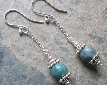Fancy Jasper & Chain Earrings ~ Zen style jewelry