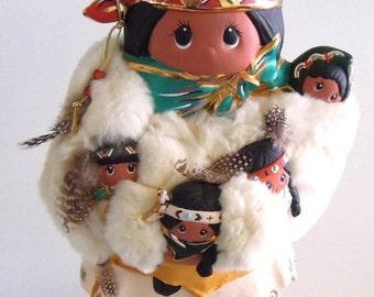 Vintage Storyteller Kachina Doll Santa Fe Large