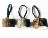 NEW REPTILE or triangle geo pattern leather hair cuff by odi boutique jewellery , you choose the size and colour
