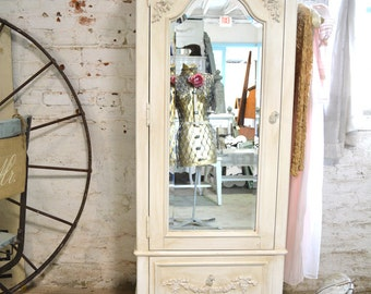 Painted Cottage Chic Shabby Romantic French Armoire AM181