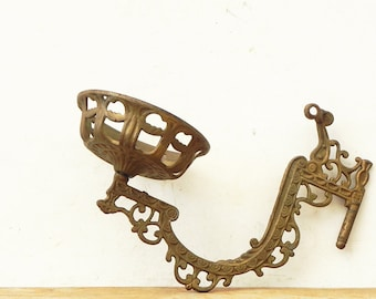Wall Sconce Lamp Parts : 2 vintage brass wall sconce backplate lamp parts by dkgeneralstore