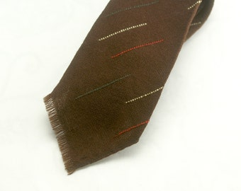 Vintage Karen Bulow for Holt Renfrew Men's Wool Necktie - Hand Woven in Canada