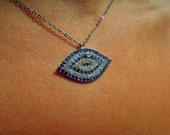 Evil eye necklace - silver evil eye jewelry - evil eye choker - delicate necklace - turkish eye necklace - jewelry - mom - coworker - sister