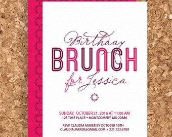 Birthday Brunch Design (DIY Printable Birthday Party, Birthday Invitation) - Print Your Own Party