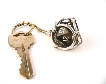 Custom D20 Keychain - You choose dice color