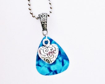 Heart Guitar Pick Necklace