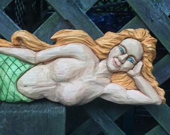 Mermaid Woodcarving