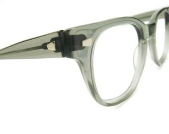 Vintage Grey G-Man Horned Rim Eyeglasses Frames