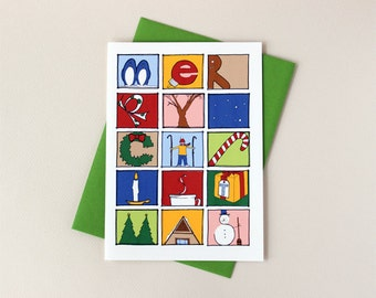 PERSONALIZED: Merry Christmas Pictures Card Set