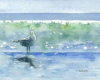 Seagull Original Watercolor