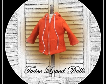 Hoodie Jacket / Sweatshirt  for BOY doll (or girl!) 18 inch dolls - American Girl, Magic Attic, Our Generation, etc