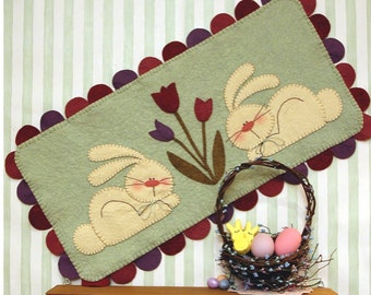 Hares To Spring PDF Penny Rug Pattern