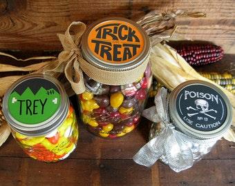 Halloween Gift Treat Jar Lid