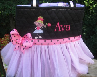 Personalized Tutu Bag with Little Ballerina