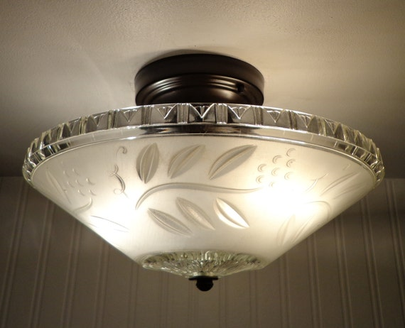 Antique CEILING LIGHT With Semi-Flush Mount By LampGoods