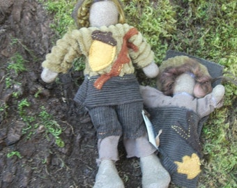 Woodland/Waldorf Posable Fairy Folk Dolls: ACORN