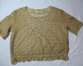 Beautiful Antique Battenburg Lace Blouse Small Women