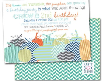 Pumpkin Patch Party Invites