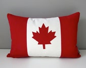 Canada Flag Pillow Cover, Canadian Flag Outdoor Pillow Cover, Maple Leaf, Decorative Throw Pillow Case, Red White Canuck, 150th Birthday