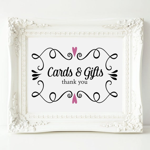 Great Wedding Gifts Under 100 : Cards and Gifts Wedding Sign, Two Hearts Card & Gifts Wedding ...