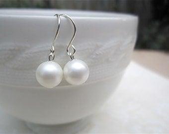 Wedding Earrings, Pearl Wedding Earrings, Pearl Bridal Earrings, Pearl Wedding Earrings, Bridesmaid Earrings, Pearl Bridesmaid Earrings
