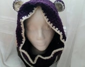 Hooded Bear Cowl Toddler Neck Warmer Ready to Ship