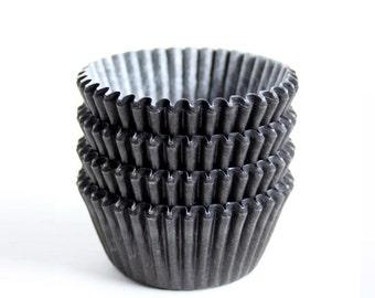 MINI Black Cupcake Liners (100)