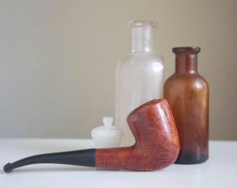 Estate Pipe, Italy, Dublin Shape, 1/4 Bend Tobacco Pipe, Beautiful Grain, Gift For Dad, Grandpa, Under 50,